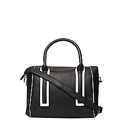 Dorothy Perkins - Black contrast pipe bowler bag