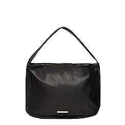 Dorothy Perkins - Black whipstitch hobo bag