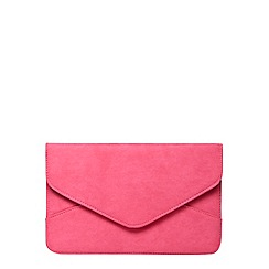 Dorothy Perkins - Pink suedette envelope clutch bag