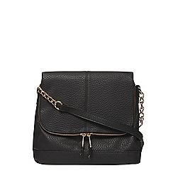 Dorothy Perkins - Black double zip crossbody bag