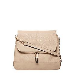 Dorothy Perkins - Stone double zip crossbody bag