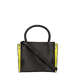 Dorothy Perkins - Black contrast panels tote bag