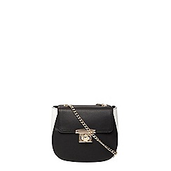 Dorothy Perkins - Black saddle satchel