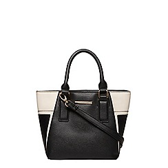 Dorothy Perkins - Black small panelled tote