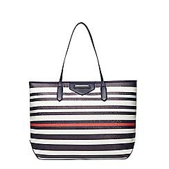 Dorothy Perkins - Blue mix large stripe tote bag