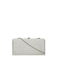 Dorothy Perkins - Silver glitter box clutch bag