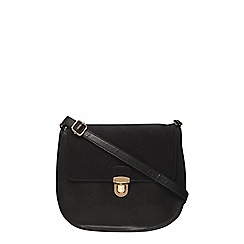 Dorothy Perkins - Black minimal saddle bag