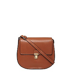 Dorothy Perkins - Tan minimal saddle bag