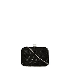 Dorothy Perkins - Black gem box clutch bag