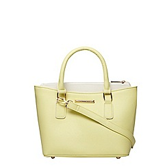 Dorothy Perkins - Lemon multi compartment tote bag