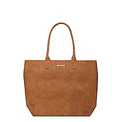Dorothy Perkins - Tan faux suede shopper bag