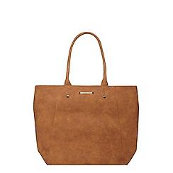 Dorothy Perkins - Tan faux suede shopper bag