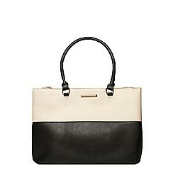 Dorothy Perkins - Black and bone double zip tote bag