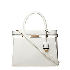 Dorothy Perkins - White belted tote bag