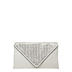 Dorothy Perkins - White laser cut clutch bag