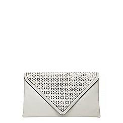 Dorothy Perkins - White laser cut clutch bag