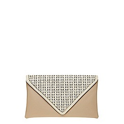 Dorothy Perkins - Nude laser cut clutch bag
