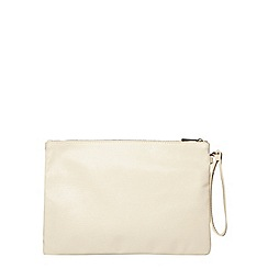 Dorothy Perkins - Nude large wristlet clutch bag