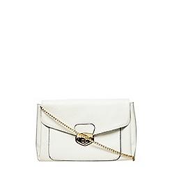 Dorothy Perkins - White tablock clutch bag