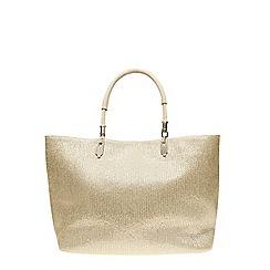 Dorothy Perkins - Silver shimmer beach tote bag
