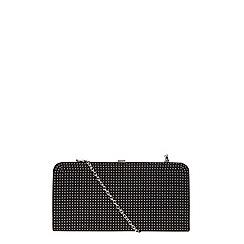 Dorothy Perkins - Black pinstud frame clutch bag