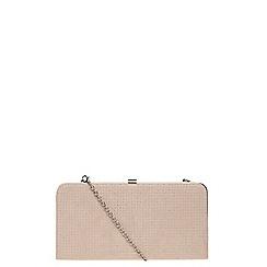 Dorothy Perkins - Nude pinstud frame clutch bag