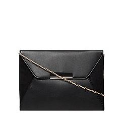 Dorothy Perkins - Black envelope tab clutch bag