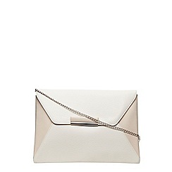 Dorothy Perkins - White envelope tab clutch
