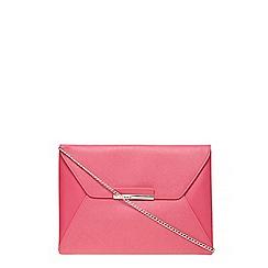 Dorothy Perkins - Pink envelope clutch bag