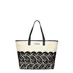 Dorothy Perkins - Bone crochet tote bag