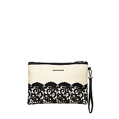 Dorothy Perkins - Bone crochet clutch bag