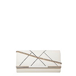 Dorothy Perkins - White panelled clutch bag