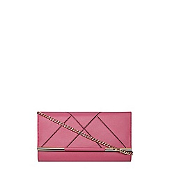 Dorothy Perkins - Pink panelled clutch bag