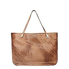 Dorothy Perkins - Tan weave shopper bag
