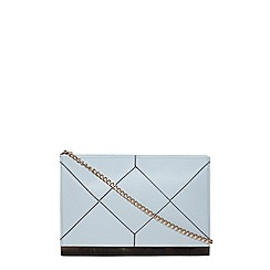Dorothy Perkins - Blue panel bar clutch bag