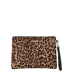 Dorothy Perkins - Leopard wristlet clutch