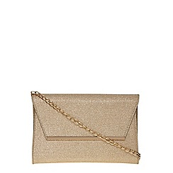 Dorothy Perkins - Gold glitter chain clutch bag
