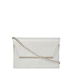 Dorothy Perkins - Silver glitter chain clutch bag