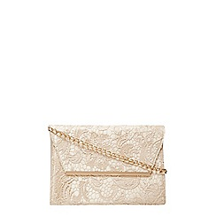 Dorothy Perkins - Gold lace chain clutch bag