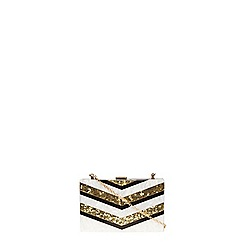 Dorothy Perkins - Stripe resin clutch bag