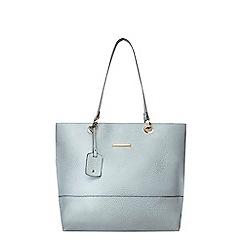 Dorothy Perkins - Blue croc eyelet tote bag