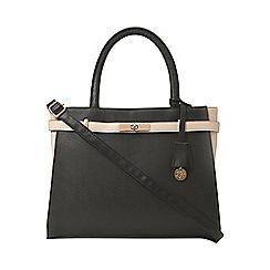 Dorothy Perkins - Black and bone belted tote bag