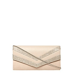 Dorothy Perkins - Nude panel clutch bag