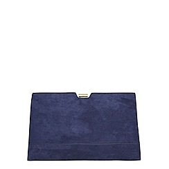 Dorothy Perkins - Navy metal frame clutch bag