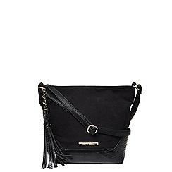 Dorothy Perkins - Black faux suede bucket bag