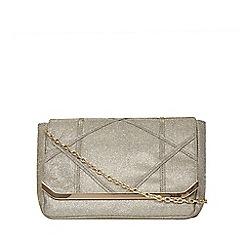 Dorothy Perkins - Grey diamond pouch clutch