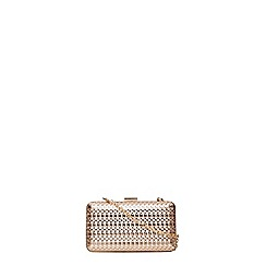 Dorothy Perkins - Gold and blush cage box clutch bag