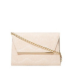 Dorothy Perkins - Blush lace chain clutch bag