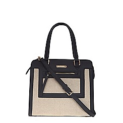 Dorothy Perkins - Black and nude chevron tote bag