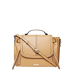 Dorothy Perkins - Tan double zip satchel